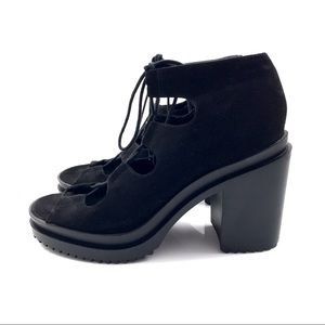 H&M DIVIDED open toe lace up boots